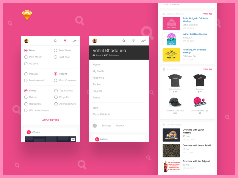 Dribbble search freebie