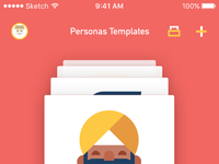 All personas card view