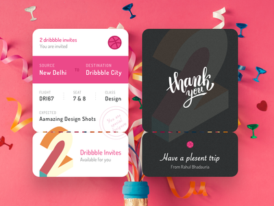 2 Dribbble Invite for you to Dribbble Land
