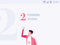 Dribbble invites app screen