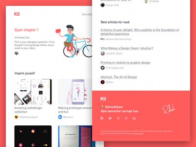 Design Newletter postman newspetter chapters gyan articles ux ui branding rahul bhadauria design