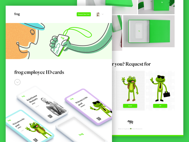 Frog employee id card