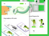Frog ID Card webpage