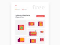 Products illustration freebie