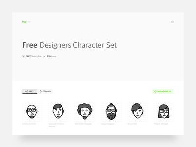 FREE Design Characters icons sketch svg free freebie icons illustrations frog gurgaon frog india characters designers