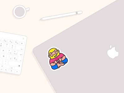 Seductive game of dribbble gamepad mac apple design love game gamer stickermule designers stickers dribbble