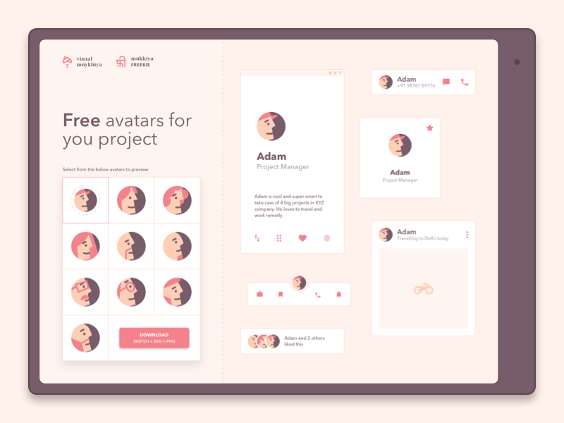 Free avatar illustrations