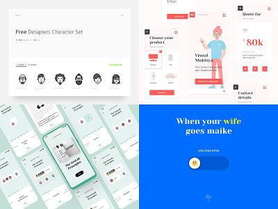 Top 2018 Shots illustration ux ui happiness emoji motion book branding freebie 2018 shots 2018 trends