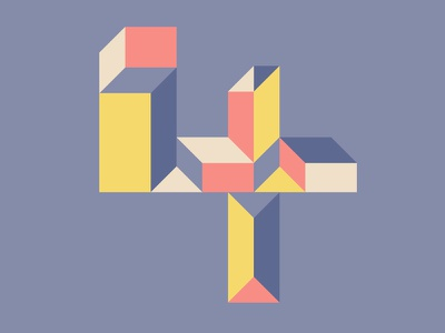 Countdown 4 four 4 geometry shape