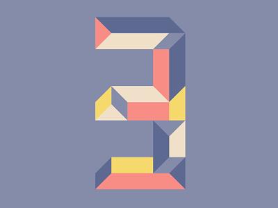 Countdown 3 countdown three 3 shape