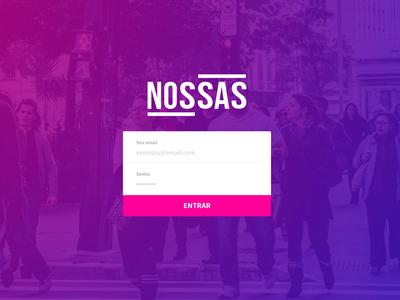 New login screen for Nossas