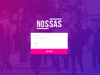 New login screen for Nossas