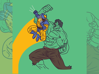 DAY 23/31 - Wolverine VS. Hulk