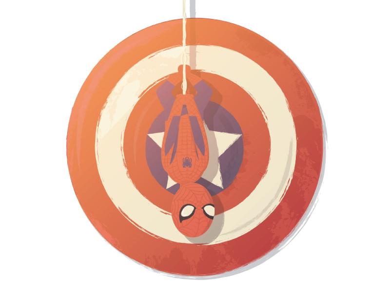 """Underoos!"" movie film captainamericacivilwar ironman superhero mcu civilwar spiderman captainamerica characterdesign marvel avengers"