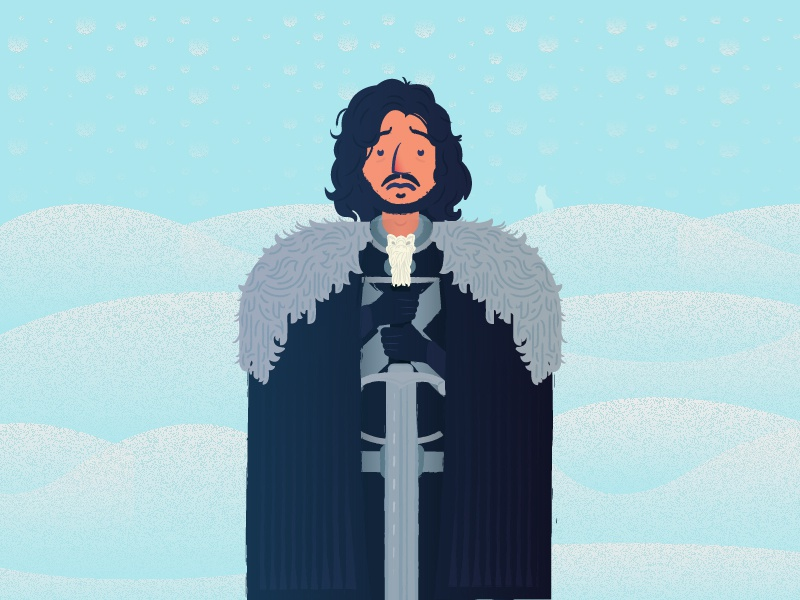 """""""You know nothing, Jon Snow."""" - Game of thrones is life  character design illustration white walker fantasy snow ghost wolf tv hbo game of thrones jon snow"""