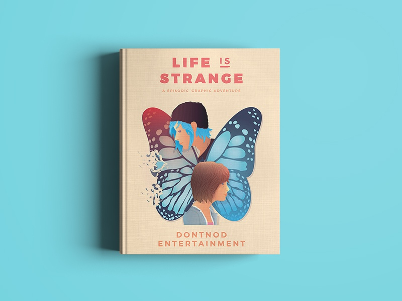 Life is Strange: Book Cover ⏱ book life is strange superpower clock girls portrait butterfly time travel time gaming games video game
