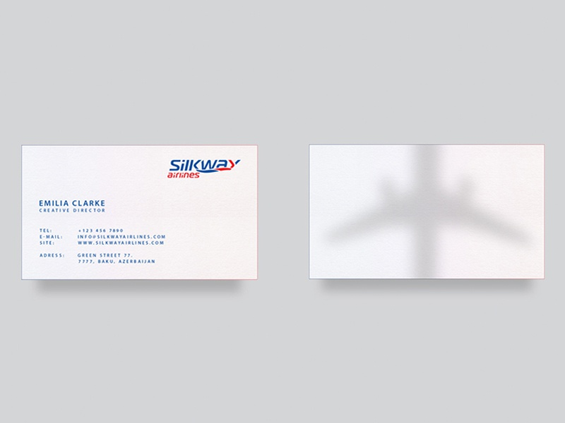 Silk Way Airlines business card identity cargo airlines brand logotype sw airlines silkway logo baku azerbaijan branding