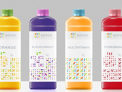 DOTOD designer brand sign germany identity logotype design juice packaging package logo branding
