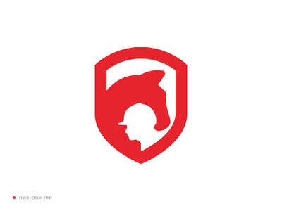 Horse space negative logotype logo human designer design identity corporate branding brand berlin