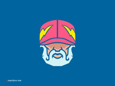 Zeus in our time ⚡️  god character brand identity germany berlin design designer logotype branding logo zeus