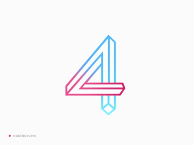 4D Software branding logo logotype identity berlin brand designer graphic number sign corporate rebranding