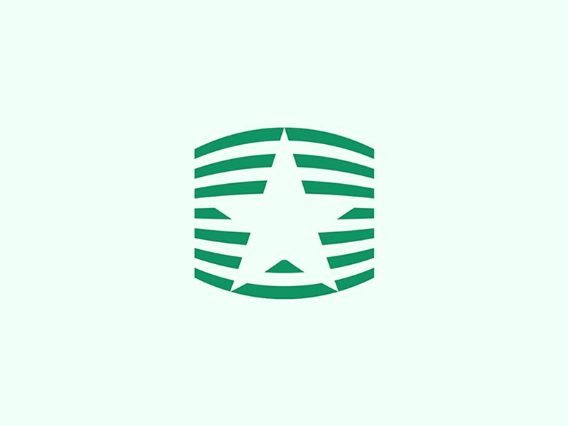 Green Star by Ramin Nasibov on Dribbble