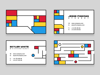 Alfred Arndt & Bauhaus bauhaus business card logotype adobe berlin germany designer graphic creativecloud mondrian corporate dessau