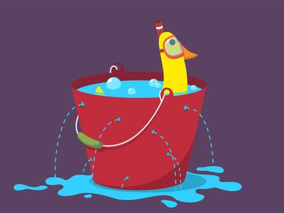 Submarine animation animade duck goosiegoosie goose submarine fullsecs second bin water