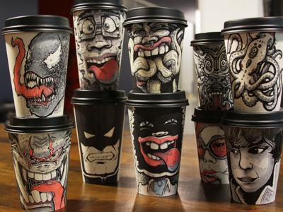 Coffee Cup Art coffee cup art