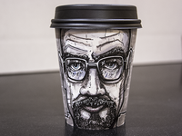 Walter White Coffee Cup Illustration