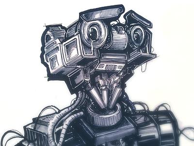 Short Circuit Sketch robot sketch illustration marker sketchbook