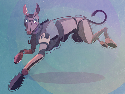 Robo-Fido robot vector illustration dog