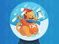 imgix holiday card illustration