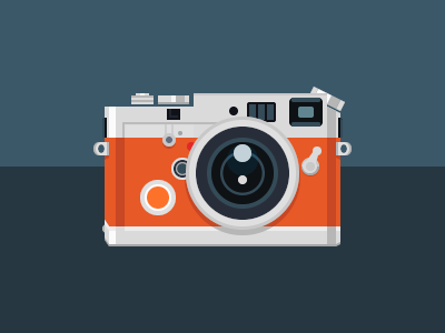 Leica M7 inspired Camera Icon imgix camera leica vector lens icon flat minimal