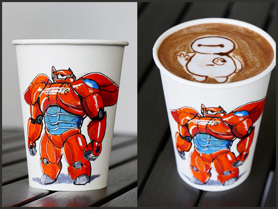 Baymax Coffe Cup Collabo with @melaquino