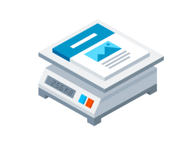 Page Weight Logo Mark illustrator 3d isometric logo illustration vector