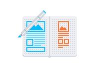 Sketchbook Wireframes & Copic Marker