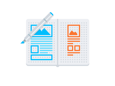 Sketchbook Wireframes & Copic Marker imgix svg graphic illustration vector sketch wireframes