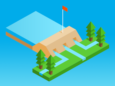 Isometric Levee Icon