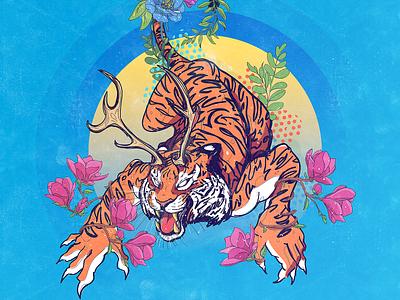 Neighbor's Cat Illustration vector cat illustration cat tiger