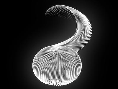 Cobra swirl motionpoem abstract 3d c4d