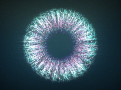 Iris look test 3d c4d abstract