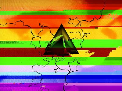 Glitch pyramid 3d c4d mograph abstract