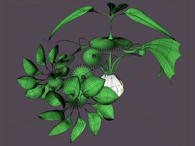 Plant-copter gizmo 3d