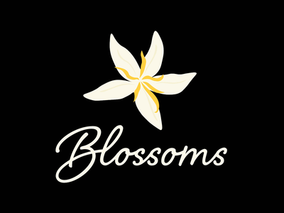 Blossoms logo branding art logodesigner digitalart business design flowerlogo coffeeshoplogo logodesign logo