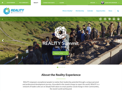 Reality landing page reality summit homepage landing page