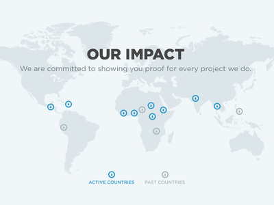 Our Impact generosity water map locations projects impact