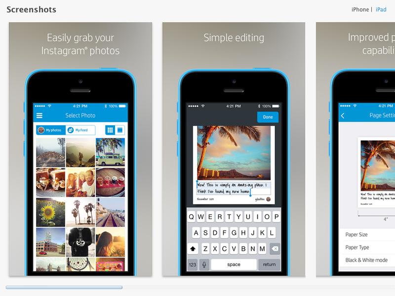 Socialsnaps app store dribbble