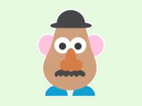 Sticker Mule Playoff - Mr Potato Head
