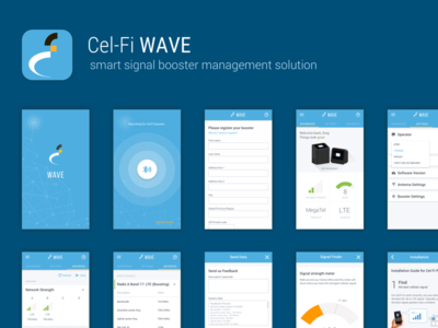 Cel-Fi Wave app material design app android ios booster signal smart wave cel-fi